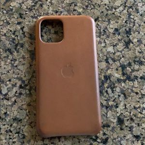 11 Pro Apple iPhone case. Real leather.